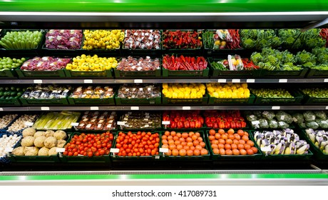 Realize the products in the supermarket