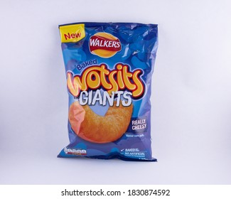 Really Cheesy Giant Wotsits snacks, healthy baked not fried snack. Norwich, UK - October 10th 2020