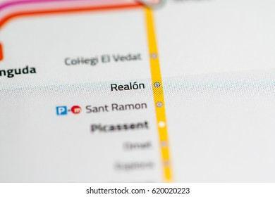 Ausias March Station Valencia Metro Map Stock Photo 620020139