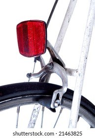 rear of bike showing reflector and wheel