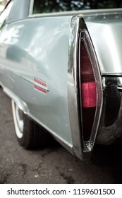 Rear of classic American car from the 1970s