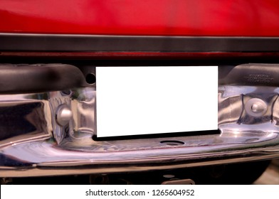 Rear End Of Red Truck with Place for your name or Product