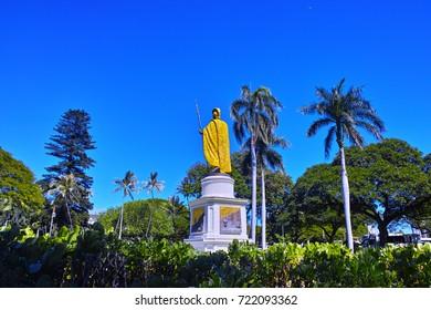 Rear of Kamehameha's statue