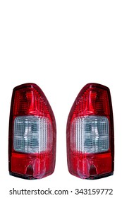rear lamp broke isolated on white.