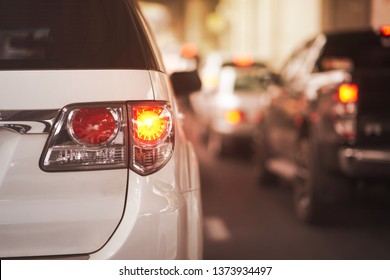 Rear lamp signals for turn of car on street