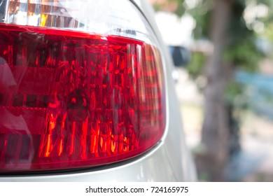 rear light. Tail light car focusing on lamp