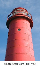 The rear lighthouse on Lake Michigan at Grand Haven