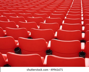 Rear of red seats at Wembley