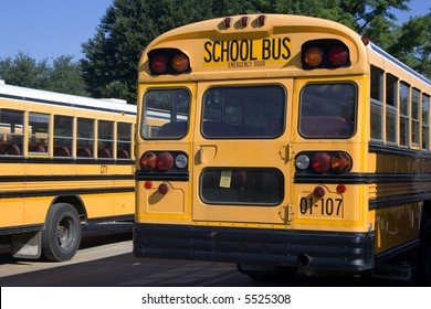 Rear of school bus