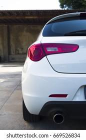 Rear of a sports car
