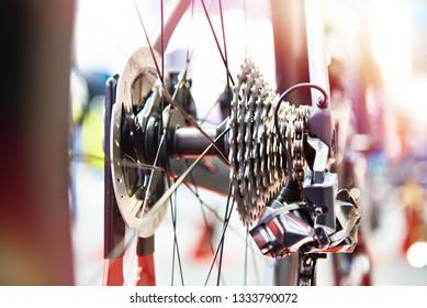 Rear sprockets with chain sports bike