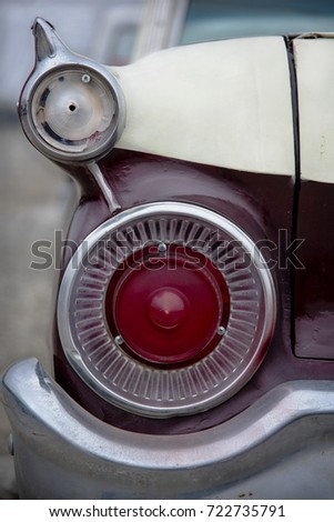 Rear Tail Light Chrome Bumper Vintage Stock Photo Edit Now