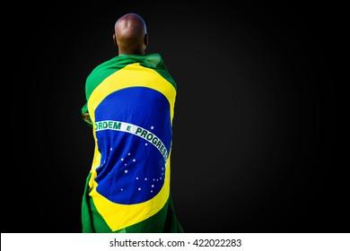 Rear view of brazilian sportsman