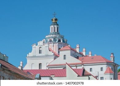 Rear view of the Church of St. Casimir in Vilnius, Lithuania. It is the oldest baroque church in Vilnius, built in 1618