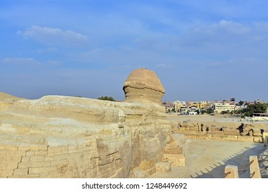 Rear view of the Great Sphinx, Giza, Egypt.