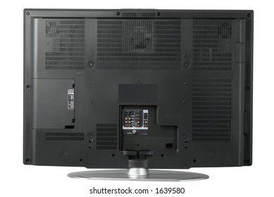 The rear view of a high end LCD television