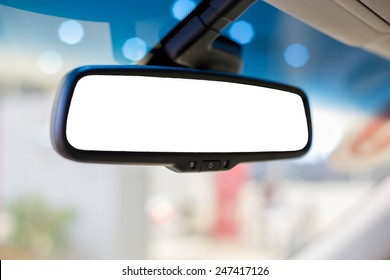 Rear view mirror in the car
