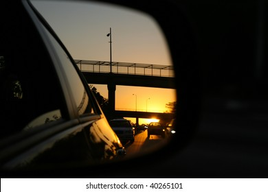 Rear View Mirror Reflection