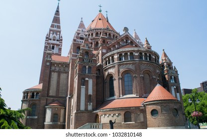 Rear view of the Votice Church in Szeged, Hungary