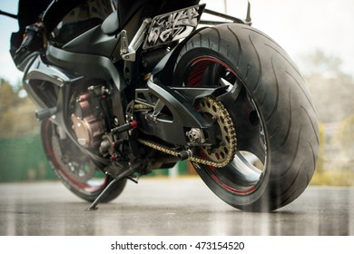 rear wheel sports bike