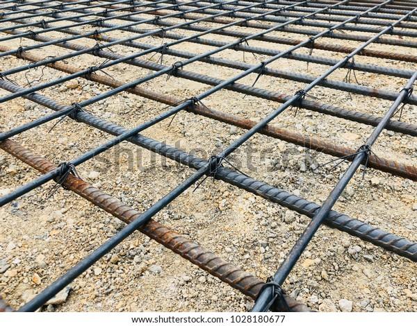Rebar Concrete Slab Pavement Work Set Stock Photo Edit Now