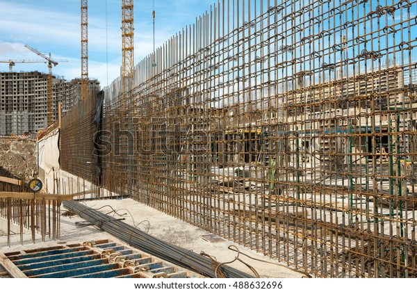 Rebar Reinforced Concrete Wall Construction Steel Stock