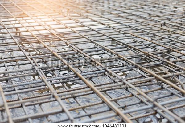 Rebar Steel Reinforcing Concrete Slab Buildingconstruction