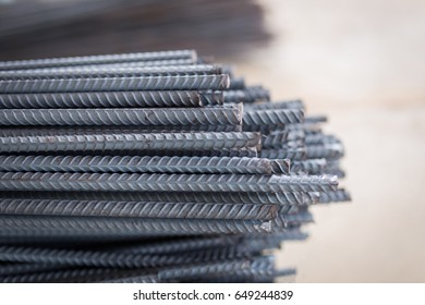 rebar steel reinforcing rod bar in construction industry , steel rod