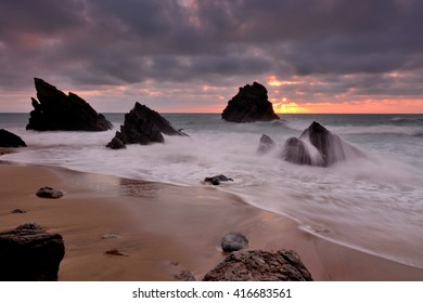 rebirth of the rocks , Adraga beach, Sintra, Portugal