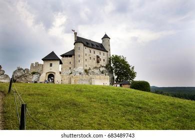 Rebuilt medieval castle in Bobolice