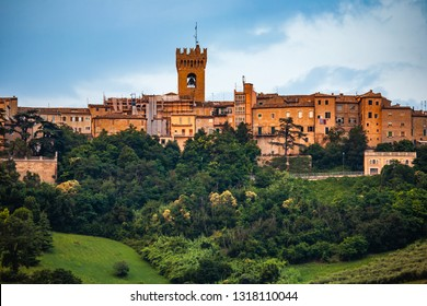 Recanati view from below-Marche-Italy
