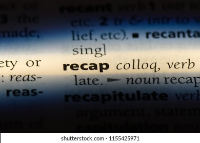 recap word in a dictionary. recap concept.