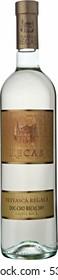 "Recas city, Timis county, Romania - February 02, 2006. Wine bottle of DOC-CMD ""Feteasca Regala"" from Recas region, Romania."