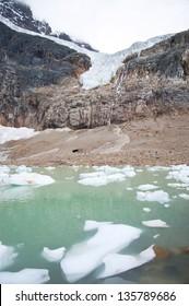 Receding Angel Glacier in Jasper National Park, Canada