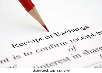 Receipt of echange