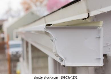 Recently installed gutter endcap