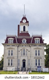 Recently renovated Courthouse in Cottonwood Falls, Kansas, built in 1871