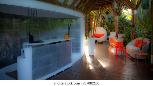 Reception of a Boutique Hotel in Costa Rica at the Caribbean