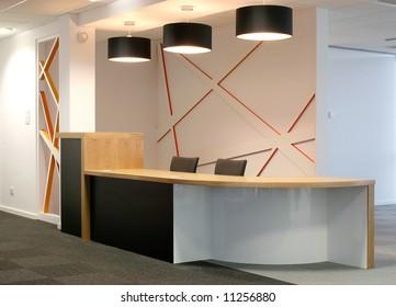 Reception counter with european oak top