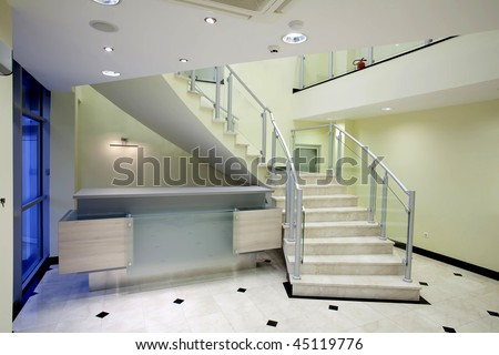 Reception Desk Under The Stairs