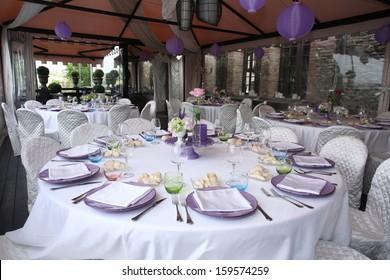 reception dinner tables