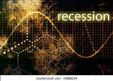 Recession Economy Business Concept Wallpaper Presentation Background