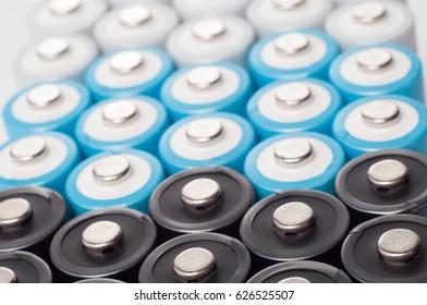 Rechargeable AA size nickel metal hydride batteries