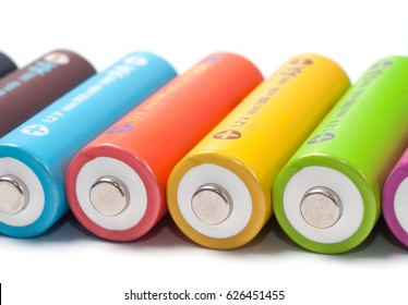 Rechargeable colored AA size nickel metal hydride batteries