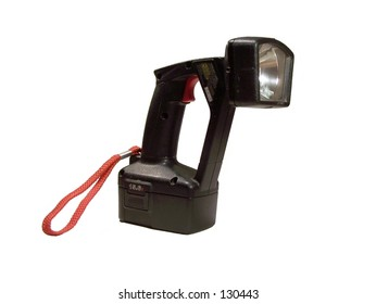 Rechargeable Flashlight on white background