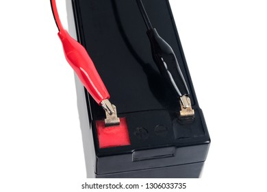 Rechargeable ups battery or dry battery 12 volt on background.
