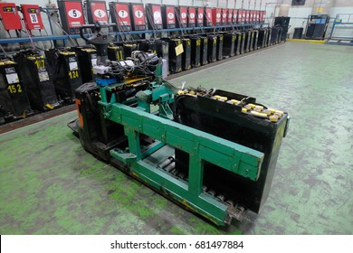 recharging electrical for forklift, battery charger.
