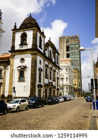 Recife, Brazil - Circa December 2018: Igreja Madre de Deus (Mother of God Church) in Old Recife neighborhood
