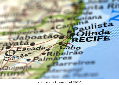 Recife Map Images Stock Photos Vectors Shutterstock