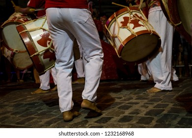 Recife, Pernambuco, Brazil. 02/27/2017. Popular culture. Maracatu de baque virado, music and dance typical of the carnival of Recife, Pernambuco, northeastern Brazil.